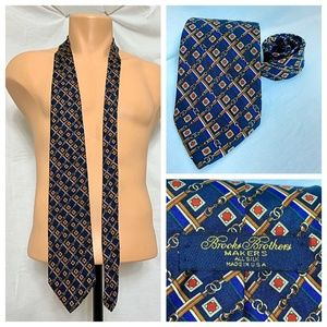 Vintage Brooks Brothers Makers Chain Link Neck Tie